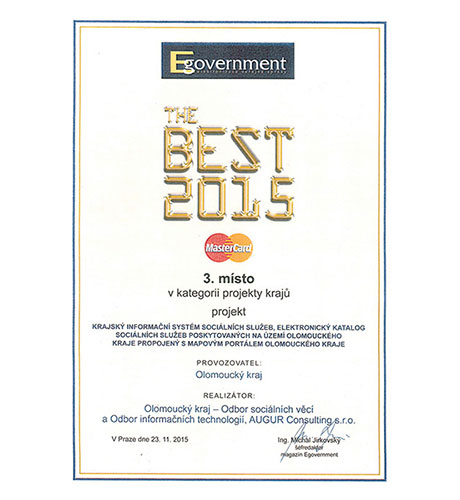 EGOVERNMENT THE BEST 2015